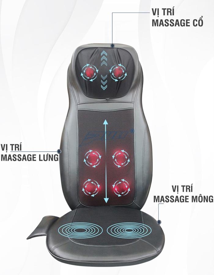 Ghế massage Puli PL-802B, massage lưng hiệu quả