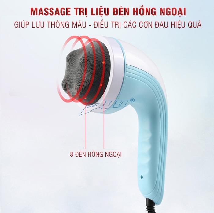 máy massage bụng nhiều đầu mát xa Puli PL-607AC3
