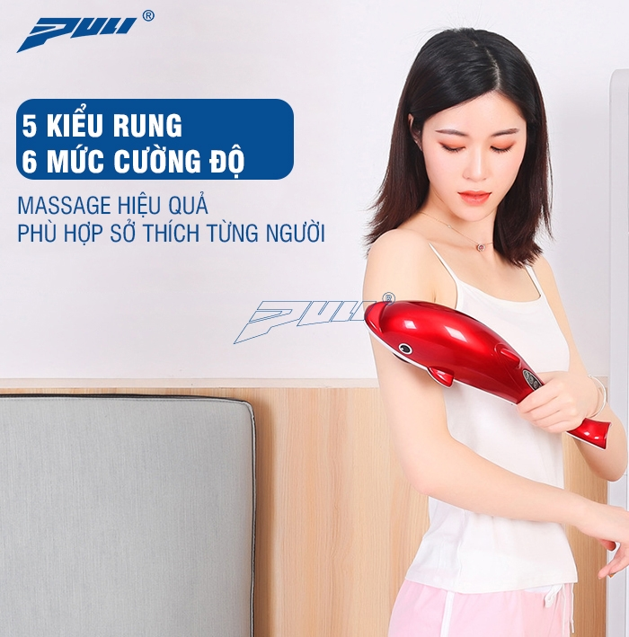 máy massage cầm tay Puli PL-608B nhiều kiểu rung