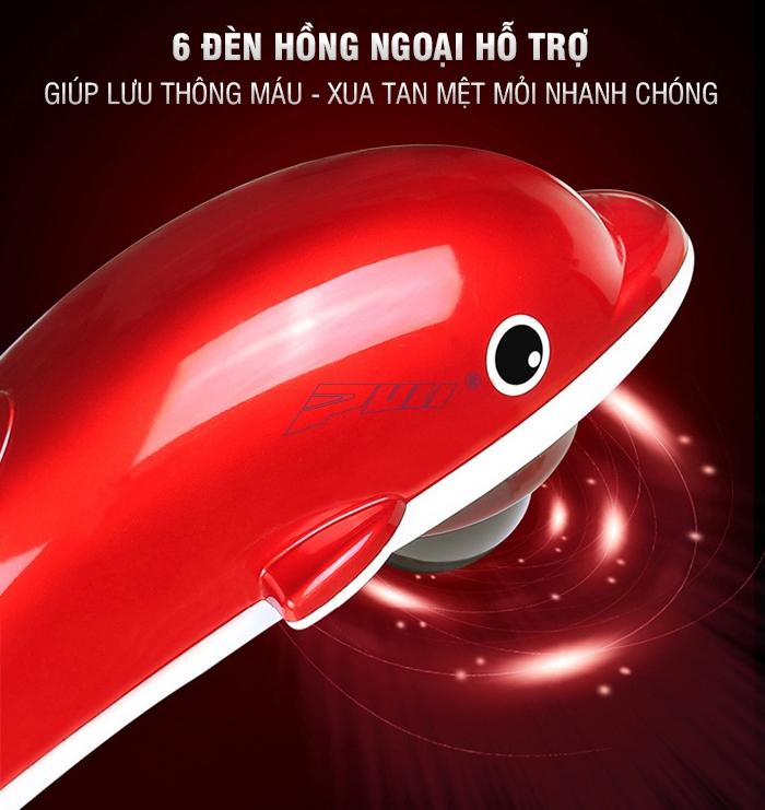 máy massage cầm tay cá heo hồng ngoại Puli PL-608B