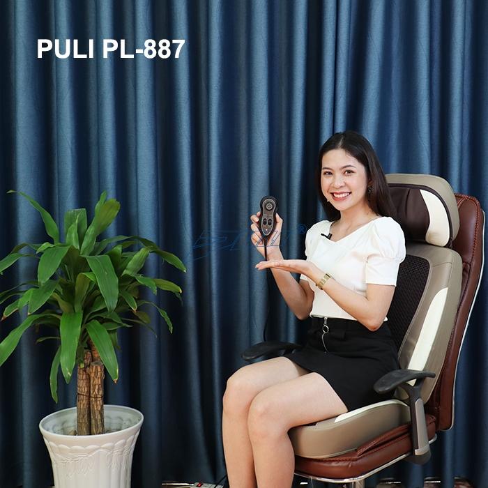 ghế mát xa lưng xoa bóp chuyên sâu hồng ngoại Puli PL-887