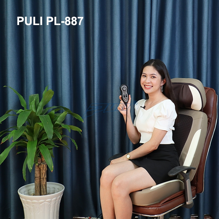 ghế massage lưng hồng ngoại Puli PL-887