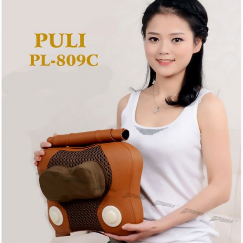 Máy massage đấm bóp lưng hồng ngoại 6 bi Puli PL-809C