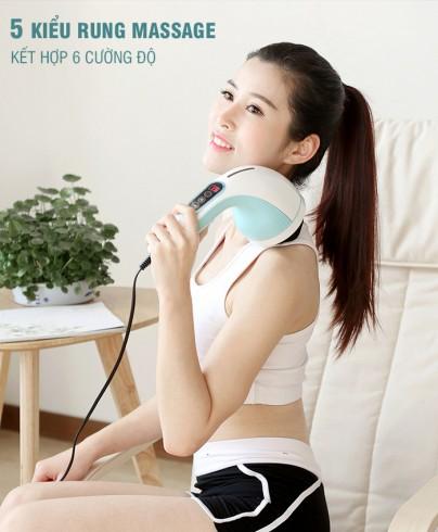 Máy massage cầm tay 8 đầu Puli PL-607AC3 - 5 chế độ