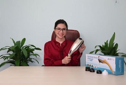 Máy massage lưng cầm tay Puli PL-610B - 5 đầu cán tay cầm dài
