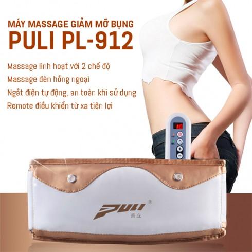 Đai massage bụng giảm mỡ cao cấp Puli PL-912