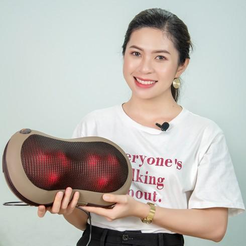 Gối massage hồng ngoại cao cấp Puli PL-819C - 6 bi