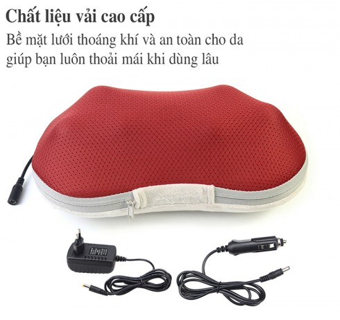 Gối massage hồng ngoại cao cấp 6 bi Puli PL-817B