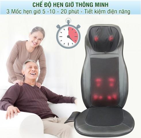 Ghế đệm massage hồng ngoại toàn thân Puli PL-802B dùng được tại nhà và ô tô