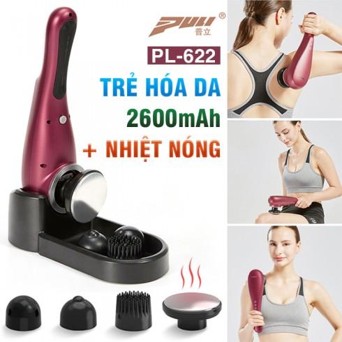 Máy massage cầm tay Rung Nóng đa năng Puli PL-622 - 4 đầu