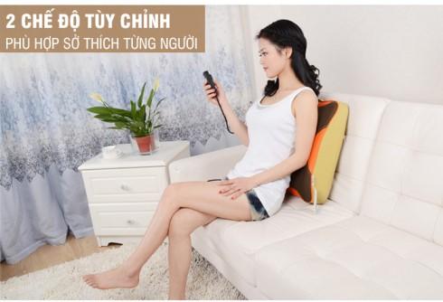 Máy massage lưng hồng ngoại 8 bi Puli PL-803A-W dòng cao cấp
