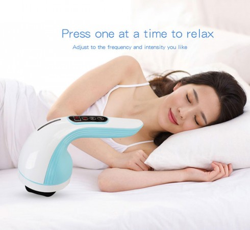 Máy massage cầm tay pin sạc Puli PL-607DC3 - 8 đầu 5 chế độ mát xa